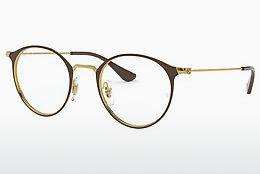 Brille Ray-Ban RX6378 2905 - Gold, Braun