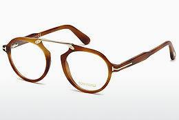 Brille Tom Ford FT5494 053 - Gelb, Braun, Havanna