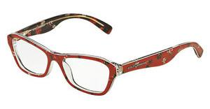 Dolce & Gabbana DG3202 2987 ROSE/FLOWERS ON RED