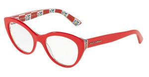 Dolce & Gabbana DG3246 3129 RED ON MAMBO PRINT