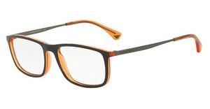 Emporio Armani EA3070 5530 MATTE BLACK/ORANGE TRANSP