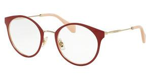 Miu Miu MU 51PV USS1O1 PALE GOLD/RED