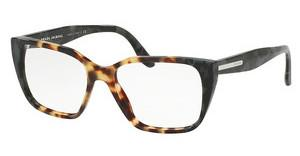 Prada PR 08TV U6M1O1 MEDIUM HAVANA/SPOTTED GREEN