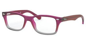 Ray-Ban Junior RY1531 3648 FUXIA GRADIENT IRIDESCENT GREY