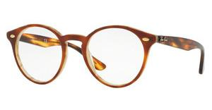 Ray-Ban RX2180V 5677 TOP BROWN HAVANA/HORN BEIGE