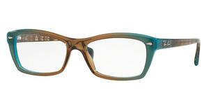 Ray-Ban RX5255 5490 GRADIENT BROWN ON AZURE