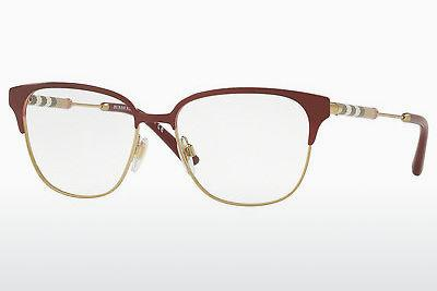 Brille Burberry BE1313Q 1238 - Rot, Gold