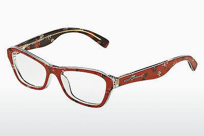 Brille Dolce & Gabbana ALMOND FLOWERS (DG3202 2987) - Rosa, Flowers, Rot