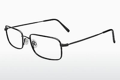 Brille Flexon 646 001 - Schwarz, Chrome