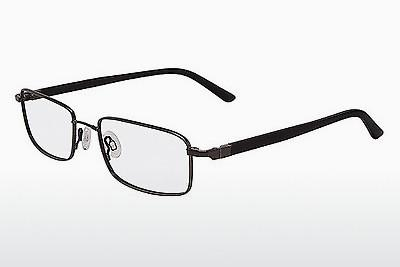 Brille Flexon 666 001 - Schwarz, Chrome