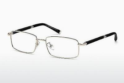 Brille Mont Blanc MB0396 016 - Silber, Shiny, Grey