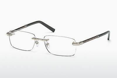 Brille Mont Blanc MB0432 016 - Silber, Shiny, Grey