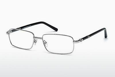Brille Mont Blanc MB0475 016 - Silber, Shiny, Grey