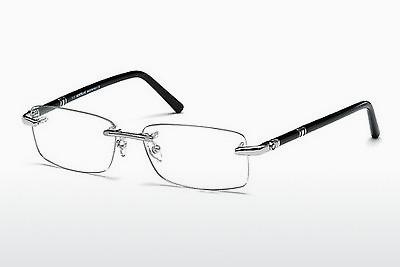 Brille Mont Blanc MB0476 016 - Silber, Shiny, Grey