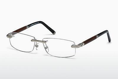 Brille Mont Blanc MB0491 016 - Silber, Shiny, Grey