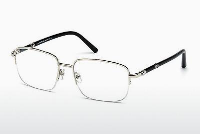 Brille Mont Blanc MB0528 016 - Silber, Shiny, Grey