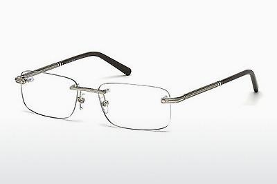 Brille Mont Blanc MB0538 016 - Silber, Shiny, Grey
