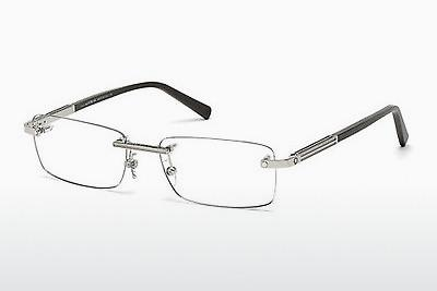 Brille Mont Blanc MB0545 016 - Silber, Shiny, Grey