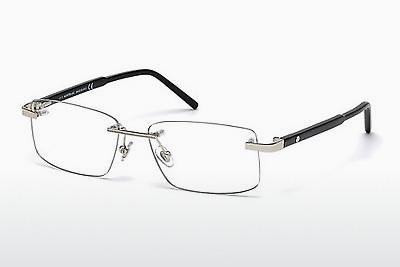 Brille Mont Blanc MB0580 016 - Silber, Shiny, Grey