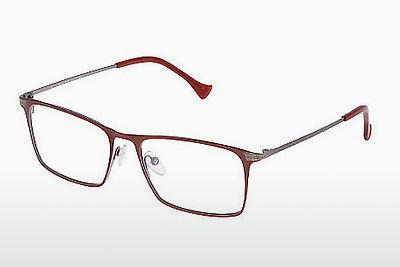 Brille Police FLUID 4 (VPL042 0489) - Rot