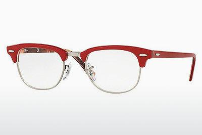 Brille Ray-Ban CLUBMASTER (RX5154 5651) - Rot, Gemustert
