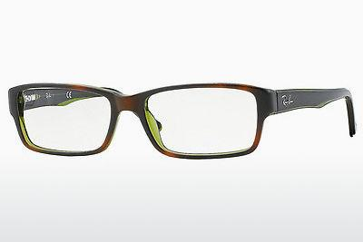 Brille Ray-Ban RX5169 2383 - Braun, Havanna, Grün, Transparent