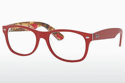 Brille Ray-Ban NEW WAYFARER (RX5184 5406) - Rot, Gemustert