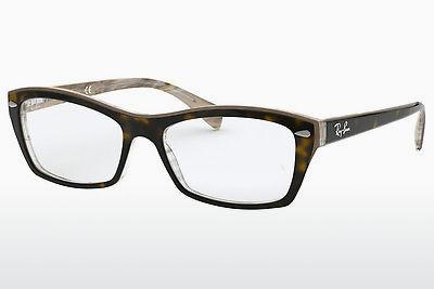 Brille Ray-Ban RX5255 (51) (RX5255 5075) - Braun, Havanna, Transparent