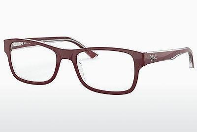 Brille Ray-Ban RX5268 5738 - Rot, Transparent