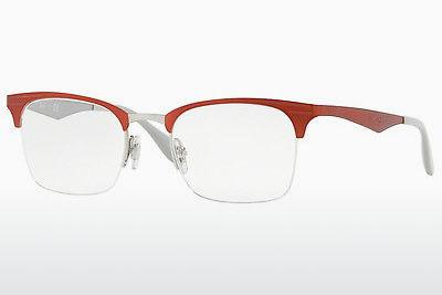 Brille Ray-Ban RX6360 2921 - Silber, Rot