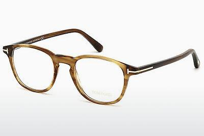 Brille Tom Ford FT5389 048 - Braun, Dark, Shiny