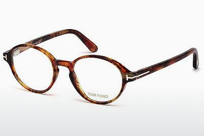 Brille Tom Ford FT5409 053 - Braun, Havanna, Gelb