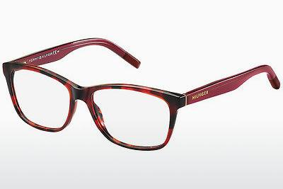 Brille Tommy Hilfiger TH 1191 K5Z - Rot, Havanna