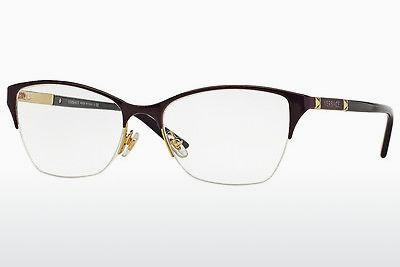 Brille Versace VE1218 1345 - Purpur, Gold