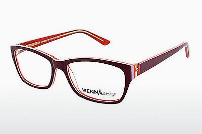 Brille Vienna Design UN526 03 - Rot, Wine