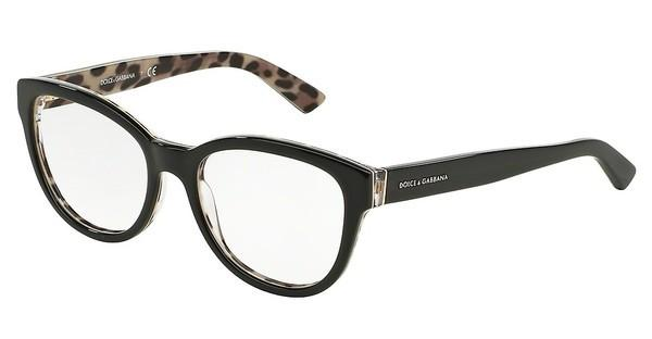 Dolce & Gabbana DG3209 2857 TOP BLACK/LEO