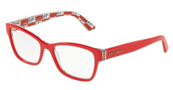 Dolce & Gabbana   DG3274 3129 RED ON MAMBO PRINT