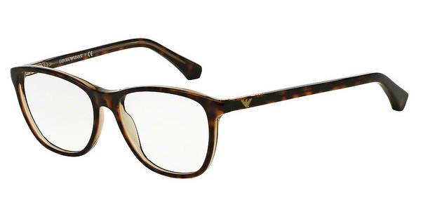 Emporio Armani EA3075 5465 HAVANA ON TRANSPARENT BEIGE