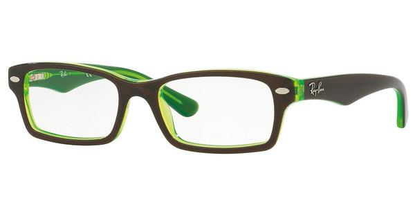 Ray-Ban Junior RY1530 3665 TOP BROWN ON GREEN FLUO