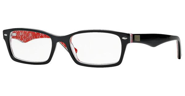 Ray-Ban RX5206 2479 TOP BLACK ON TEXTURE RED