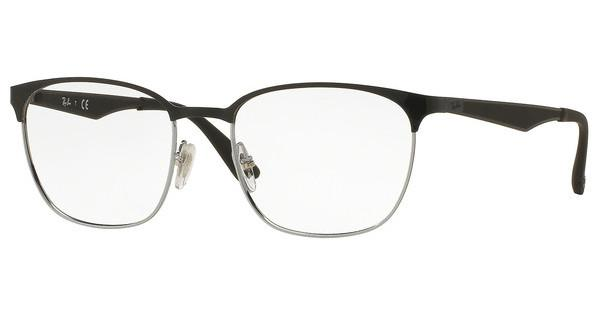 Ray-Ban RX6356 2861 TOP BLACK ON SHINY SILVER