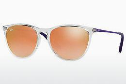 Sonnenbrille Ray-Ban Junior RJ9060S 7030B9 - Weiß, Transparent