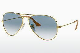 Sonnenbrille Ray-Ban AVIATOR LARGE METAL (RB3025 001/3F) - Gold