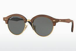 Sonnenbrille Ray-Ban Clubround Wood (RB4246M 118158) - Gold