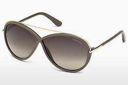 Sonnenbrille Tom Ford Tamara (FT0454 59K) - Horn, Beige, Brown