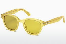 Sonnenbrille Tom Ford Garett (FT0538 59E) - Horn, Beige, Brown