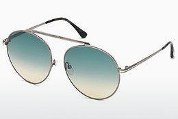 Sonnenbrille Tom Ford FT0571 14W - Grau, Shiny, Bright