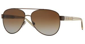 Burberry BE3084 1212T5 POLAR BROWN GRADIENTBRUSHED BROWN