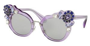 Miu Miu MU 04SS U695J0 LIGHT GREYTRANSPARENT LILAC