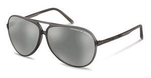 Porsche Design P8595 D mercury, silver mirroredgreen gray